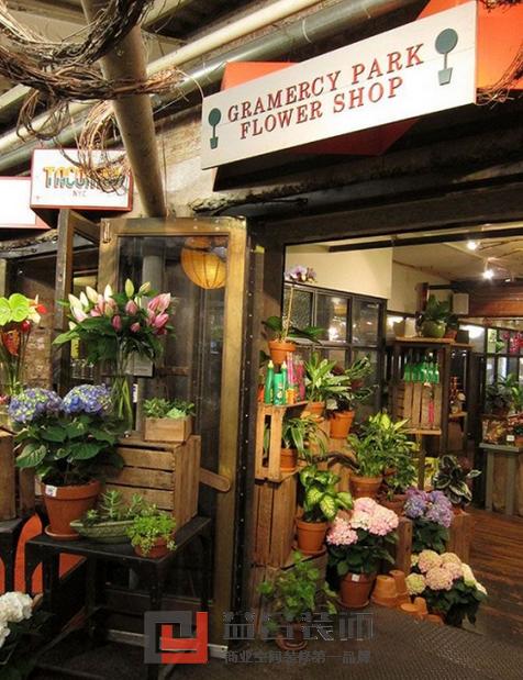 欧式复古花店装修图
