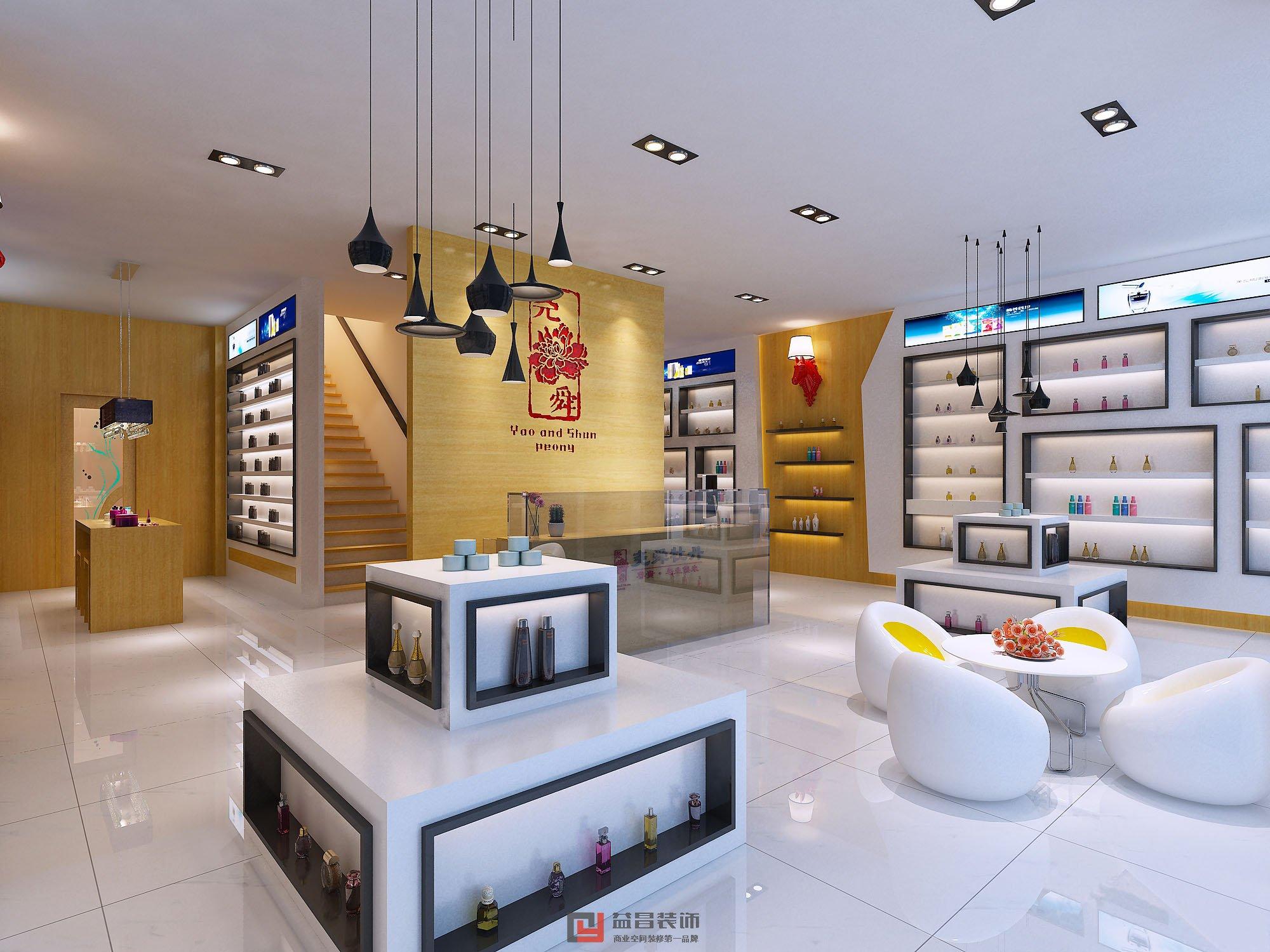 长8米宽3米铺面设计图-南昌化妆品店面装修效果图