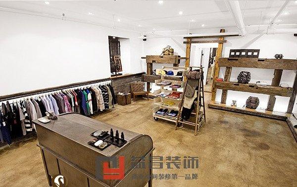 装修风格:古典风格       案例说明:本服装店是一家男装店,颜色以白色