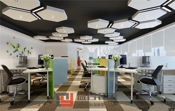 项目类型:职业技术学校 设计风格:轻松活跃 案例说明:设计师在本次案例中选用了比较活跃的色彩,调动整个视觉氛围,从而不断激发学员灵感!选用六边形的灯饰,新颖而别致;整体白色的墙面清爽而干净,红绿黄色的办公家具的点缀,轻松而跳跃。整个搭配设计与创艺设计思想不谋而合。